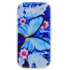 Голубая бабочка шаблон Мягкий чехол тонкий ТПУ резиновый силиконовый гель чехол для Samsung GALAXY S3 купить чехол для samsung galaxy s3 melkco