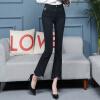 KuoyiHouse 0039 17 новых черных джинсов женские стрейч микро-колокола брюки женские брюки брюки отдельные сожгли Slim spring высокая талия большой размер черный XL