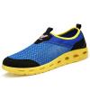 купить Если сумма P (регент) мужской обувь дышащей сетки обувь M Foot полой отверстие обувь ленивая синяя 43 ярдов сандалии 666 дешево