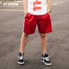 Village Roadshow viishow случайных шорты мужские боковые буквы напечатаны брюкам пять брюк мужского спорт KD11971721 красного XXL
