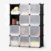 [Супермаркет] Ая проволока Jingdong простого сочетания шкаф простого гардероб мультфильм окружающей среды шкаф хранение ящик 12 8 клеток спальня шкаф висит розовые 2