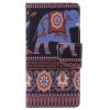 Коричневый слон Дизайн Кожа PU откидной крышки Кошелек Карты Держатель чехол для SONY M5