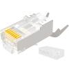 Shanze (SAMZHE) WL-10 семь видов 10 гигабитных медных экранов двухсекционная головка CAT7 с кристально-голосовой сетью FTP 10G сеть RJ45 с зажимами для клипса 1.3MM отверстие для проводов 10 / сумка клипса для проводов command 17017clr