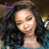 8A Short Bob Lace Front Human Hair Wigs Loose Wave 180% Density Brazilian Virgin Hair Bob Wigs-Glueless for Black Woman virgin brazilian middle part bob wave full lace human hair wigs with baby hair human short wavy lace front wigs for black women