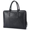 Aokang мужской портфель моды крокодил модель мужской сумки мужской первый слой кожаная сумка бизнес 8636241001 черный