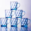 [Супермаркет] Jingdong Геба (Scybe) Бангийские ручки стеклянные чашки стеклянные плавильные цветные стеклянные камни установлены синий 250 мл 6 Zhi