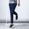YOMS мужские случайные брюки мужчины спортивные брюки хлопок прямой сплошной цвет вязать резинку носить только приток мужчин спортивные брюки 02272 темно-синий XL180