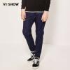 Village Roadshow (viishow) джинсы мужчины мыть джинсовые брюки Тонкий случайных брюки ноги шаровары мужчины NCA0951711 голубые джинсы XXL village roadshow viishow джинсы мужские брюки прямые мужчины прилив тонкий джинсы мужчин прямые джинсы nc58061 black 31
