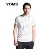 YOMS мужская рубашка с воротником поло-стиль