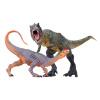 Одна коробка сюрприз игрушка-динозавр, идущая Tyrannosaurus rex + двойная корона дракон творческий детский день подарок головоломка наука и образование игрушки Юрская энциклопедия моделирования животная пластиковая модель наука и образование