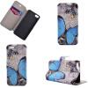 Blue Butterfly Design Кожа PU откидной крышки Кошелек для карты памяти Чехол для iPhone 5S/SE чехол для iphone 5 5s se vivanco 36239 blue