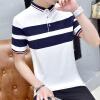 DAVID.ANN короткими рукавами футболки мужские с коротким рукавом рубашки поло лацкане рубашки пассивом смешанные цвета случайные короткими рукавами футболки мужчин белый XXL 1702 рубашки футболки для детей