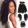 360 Deep Wave Frontal With Bundles Бразильская Virgin Hair Extension Плетение 3 комплектов с 360 кружевами Фронтальные комплекты 7A Deep Curl брюки горнолыжные rip curl rip curl ri027emzlc69