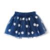 Fuluo чо Flordeer французского детская одежды для девочек снега печати Слоеной юбки F6005 темно-синие 100