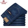 Юй Чжаолин джинсы мужские досуг и удобные мужчины прямо в поясе простые джинсовые брюки YZL512 джинсовые синие 34