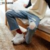 Вэй Xiu (viishow) джинсы мужской промыть кошку, чтобы сломаться прямо джинсы мужские случайные длинные брюки прилива NC11021721 ковбой синий XL