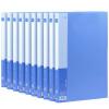 Прибыль (KINARY) AF502-10 A4 отличная серия из одного мощного кармана папки синего платья 10 отчеты стержневых прозрачной папки насосных af5001 a4 прибыли папка синего платья 10