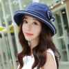 [Супермаркет] Jingdong Siggi SI89313 шляпа женщина лето новой корейской версии разборный ВС шляпы большой головной ВС шляпу УФ ВС шляпа темно-синий 57CM