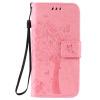 Pink Tree Design PU кожа флип крышку кошелек карты держатель чехол для IPHONE 6 brown tree design кожа pu флип крышки кошелек карты держатель чехол для iphone 6