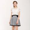 TMi Mystery Women's Summer Fancy Sweet Mosaic Bunny Dress 52214 White L
