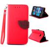 Красный Дизайн Кожа PU откидная крышка бумажника карты держатель чехол для Nokia Lumia 730 черный дизайн кожа pu откидная крышка бумажника карты держатель чехол для nokia lumia 730