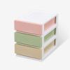 Шуайте Desktop хранение ящика для хранения собственных многослойных пластикового ящика для хранения ящика ювелирных изделий миндальных декоративной косметики Obitsu слой труба SL17043C