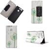 Зеленый дизайн Одуванчика PU Кожаный флип Обложка Кошелек Карты Держатель чехол для Huawei P9