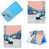 Снежный волк Стиль Классический откидная крышка с подставкой Функция и слот кредитной карты для Apple iPad 2 3 4