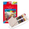 Faber-Castell цветной карандаш-60 с растворимостью в воде (цветной карандаш-60 + коврик-футляр для переноски кистей) faber orizzonte eg8 x a 60 active