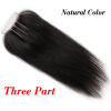 Top Quality Brazilian Virgin Human Straight Hair 4x4 Lace Closure 3 Way Part Bleached Knots Free Middle Three Part Free Shipping stock cheap price 7a quality 1b virgin brazilian hair silky straight top lace closure with bang free shipping