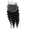 QDKZJ Недорогое качество Свободное бразильское глубокое волновое завивание Кружевное закрытие Свободное Среднее 3 части Задние волосы для волос с частью Кружева B недорогое