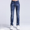 Paul M Luofa Di BAOLUOFADI джинсы талии эластичные ножки Тонкий джинсы Синий 33 187 116 204 джинсы