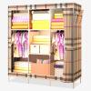 Красивый дом простой гардероб ткани шкаф многофункциональный гардероб стальная труба 136S Англия клетчатый
