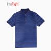 INTERIGHT 10 шелк мужской бизнес случайные футболки рубашки поло светло-синий штрих-код M павлово посадский шелк
