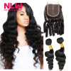 Фото Best Quality 8a Grade loose wave Malaysian lace frontal closure with 2 bundles human hair weave 100% human hair Weft 3pcs/Lot