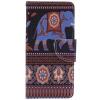 Коричневый слон Дизайн Кожа PU откидной крышки Кошелек Карты Держатель чехол для SONY XA