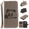 Серый Panda Стиль Тиснение Классический откидная крышка с подставкой Функция и слот кредитной карты для Google Pixel