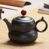 Jun Tong черный керамический чайник чайный чайник Японская чайная церемония Kung Fu tea gourd pot special offer wholesale manufacturers zisha tea pot set storage tank fuwa gift tea set collocation store mixed batch