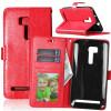 Red Style Classic Flip Cover с функцией подставки и слотом для кредитных карт для Asus ZenFone Zoom ZX551ML телефон asus zenfone zoom zx551ml 128gb черный