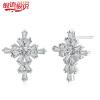 Silver Cross Language Bank, сказал серебряные серьги Корейский женские модели 925 простые серебряные серьги серебряные серьги моды