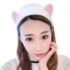 Поцелуи Кошачьи уши Бунт для волос Женская корейская версия Смазливая повязка для волос Макияж Макияж для снятия макияжа Головной убор Белый