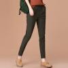 CITYPLUS Fan Art сыпучие сплошной цвет и ноги шаровары большие ярдов Вэй брюки упругие талии брюки CWKX172262 Army Green M
