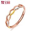 Albemarle благословение 18K цветов золотое кольцо золотое кольцо / розовое золото кольцо Корона кольцо Nvjie DBWJZA4004