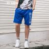 Вэй Xiu viishow досуг шорты мужские спортивные шорты Вэй брюки письма вышивка мужские брюки KD12921721 синий XXL шорты спортивные topman topman to030emuws10