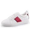 Marsh Q exull вскользь ботинки женщин плоские ботинки шить обувь моды звезды прилива белые туфли красные 38 17154705 ботинки