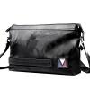 Отличный клиент кожаный мешок плеча P.kuone Япония и Южная Корея случайные мужские нейлоновые сумки мужчины диагональ сечение P610828 черный камуфляж мужские сумки