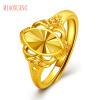 Г-жа Мяо выбрать ювелирные изделия Soulmate кольцо открытия позолоченные