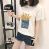 VIVAHEART Корейской случайная свободной хлопка футболка женского Картофель фри Картофель фри печатный рисунок белого с коротким рукавом белого VWTD174136 M что можно в дьюти фри в домодедово