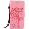 Pink Tree Design PU кожа флип крышку кошелек карты держатель чехол для SONY Z4