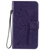 Purple Tree Design PU кожа флип крышку кошелек карты держатель чехол для SAMSUNG J710 solid color litchi pattern wallet style front buckle flip pu leather case with card slots for doogee x10